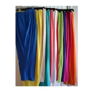 Pants - Plus Size Drawstring Knit Capris 1X